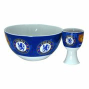 CHELSEA CEREAL BOWL AND EGG CUP