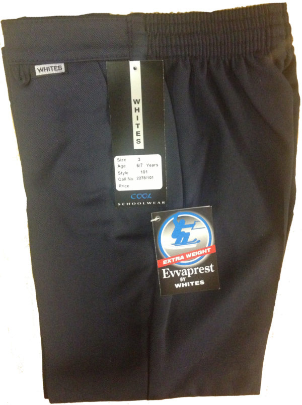 Navy School Trousers by Whites